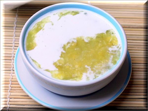 Cách nấu chè đậu xanh nước cốt dừa