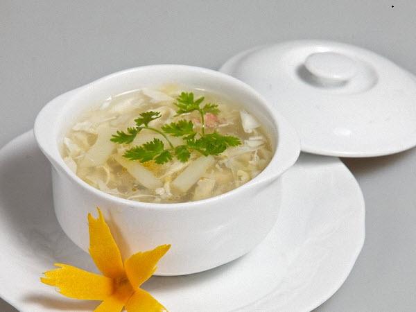 Buổi sáng thanh đạm cùng món súp cua