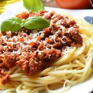 mì spaghetti sốt cà chua thịt bò