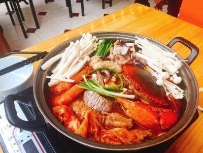 cách nấu lẩu kim chi hải sản