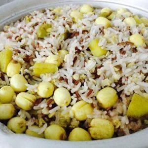cách nấu Cơm gạo lứt đậu đỏ hạt sen